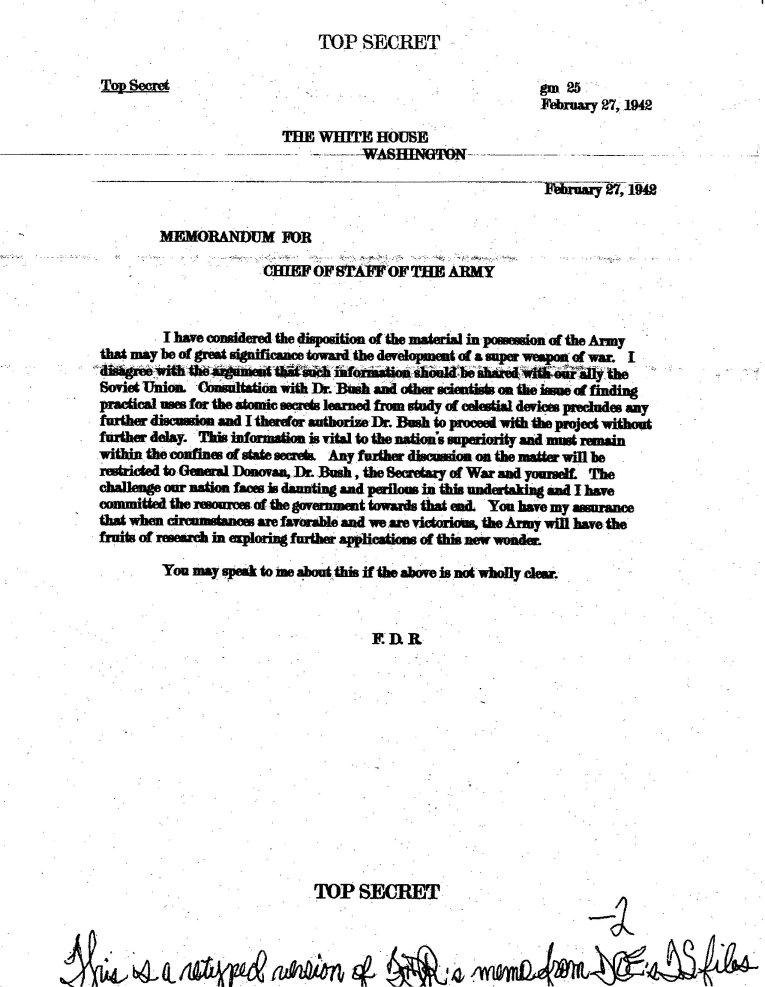 New Majestic 12 Documents